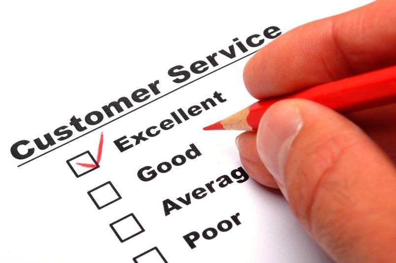 satisfaction survey showing marketing concept to improve sales