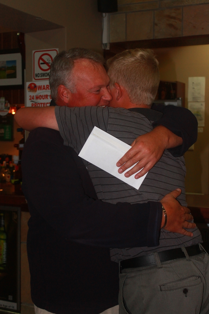 First place father and son moment