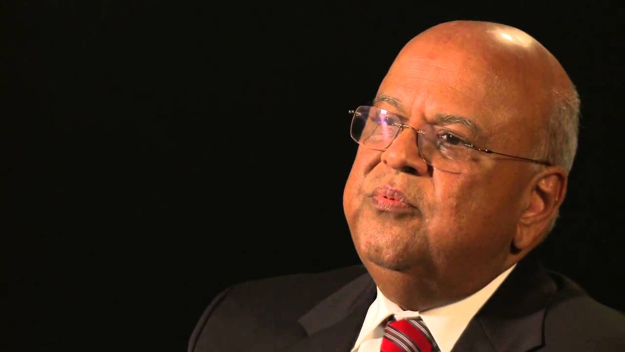 pravin gordhan south african finance minister