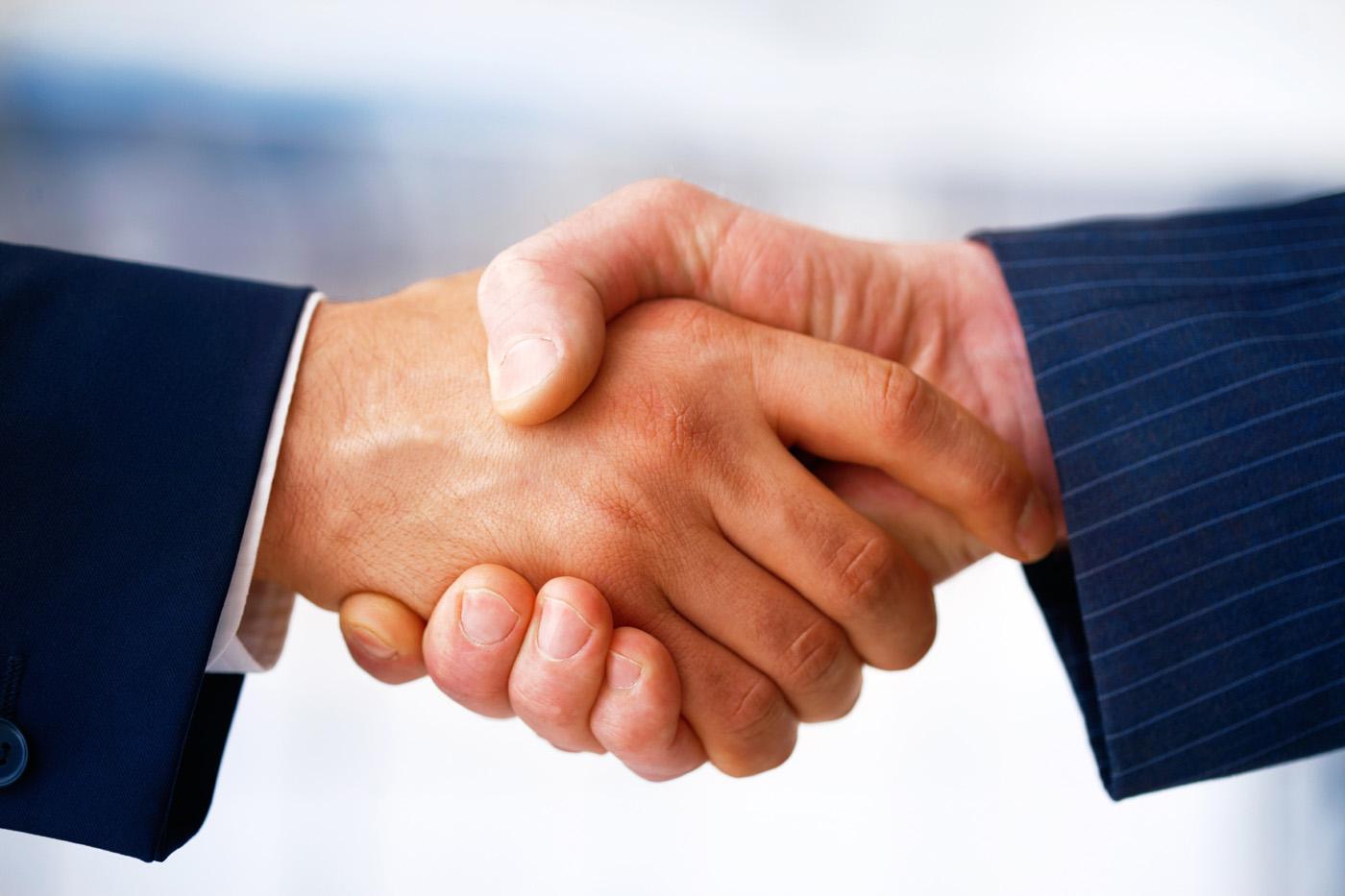 trusting handshake