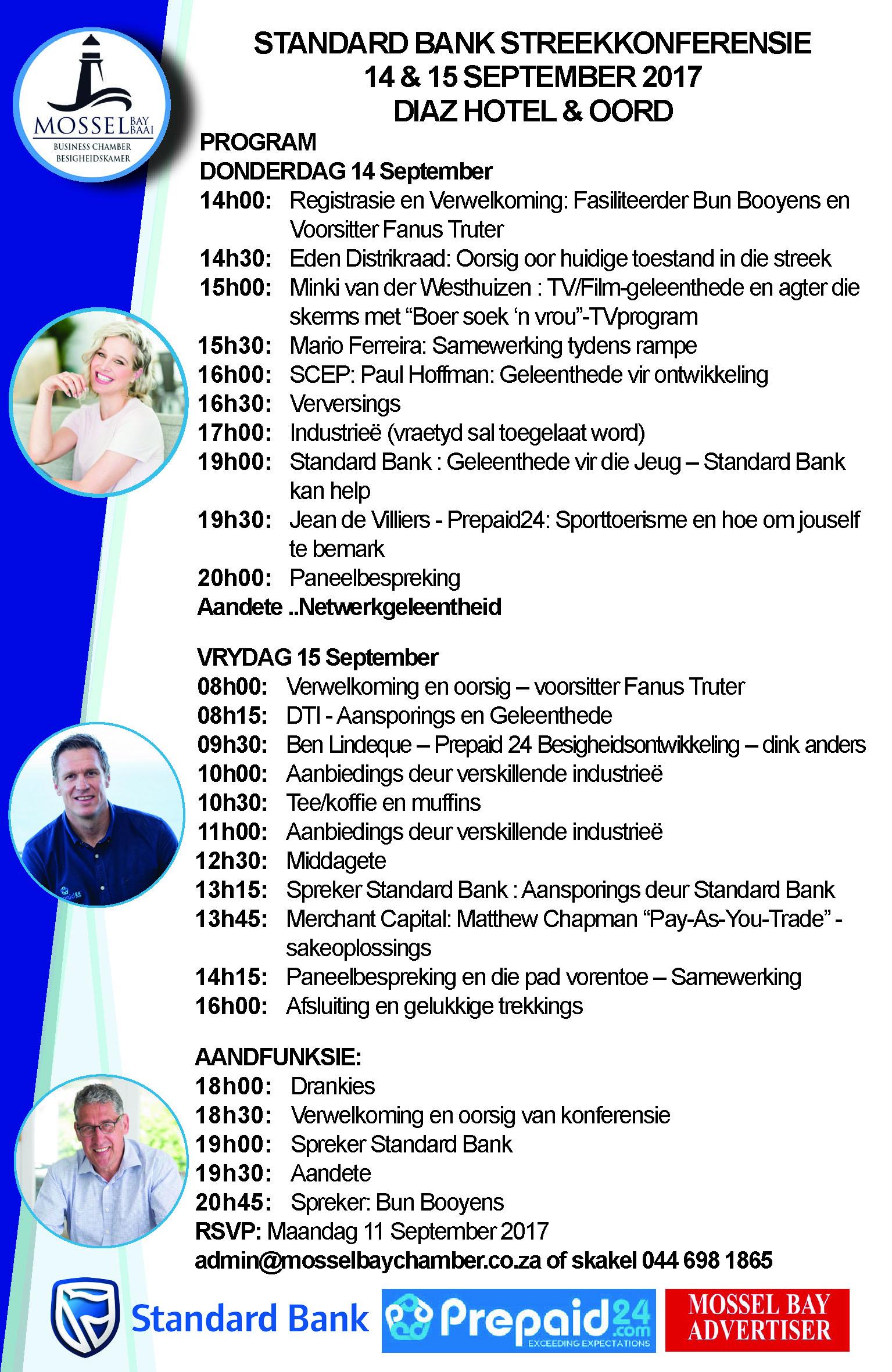 Konferensie - 14&15 Sept 2017 - Program